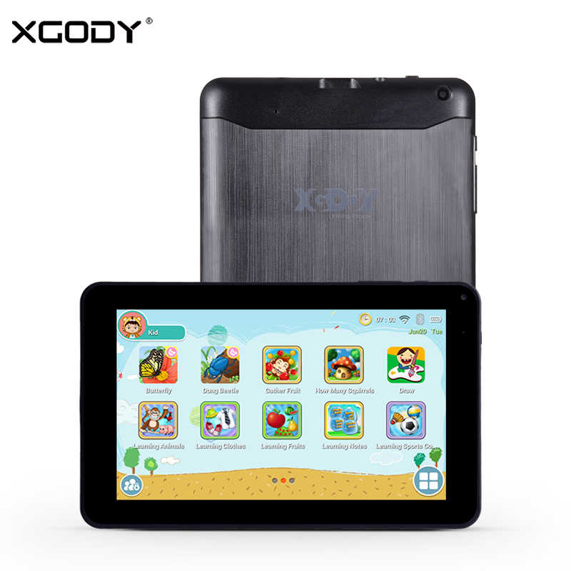 "XGODY 9 Inch Kids Tablet PC Android 6.0 Quad Core 1GB 16GB WiFi Bluetooth 9"" ChildrenTablet For Kid Leaning Tablets 32GB TF Card"