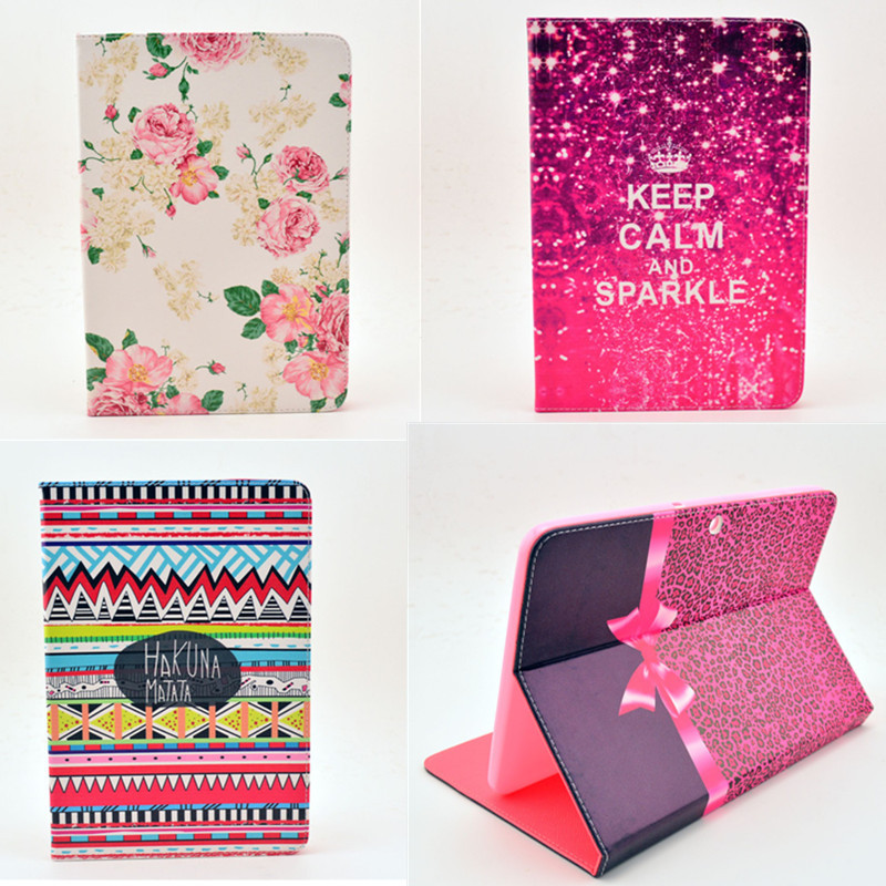 Case Cover For Samsung Galaxy Tab 2 10.1 Inch P5100 Case Flower tablet Leather design Magnetic Holster Flip Leather Book Cover tab 2 5100 задняя крышка