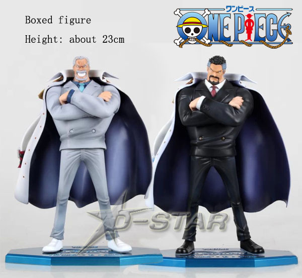 Free Shipping Cool 9 One Piece Anime Marine Hero Vice Admiral Monkey D. Garp 23cm Boxed PVC Action Figure Collection Model