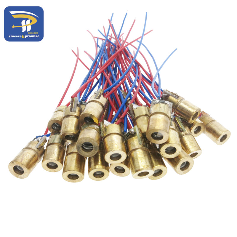 10pcs Laser Diodes 5mW 650 nm Diode Made Of Brass Shell Material 5