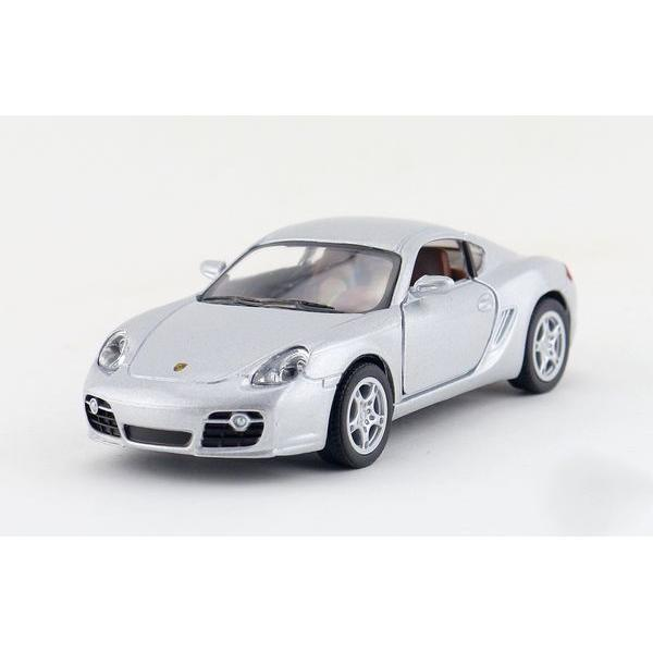 Children Kids Kinsmart Cayman S Model Car 1:34 KT5307 5inch Diecast Metal Alloy Cars Toy Pull Back Gift