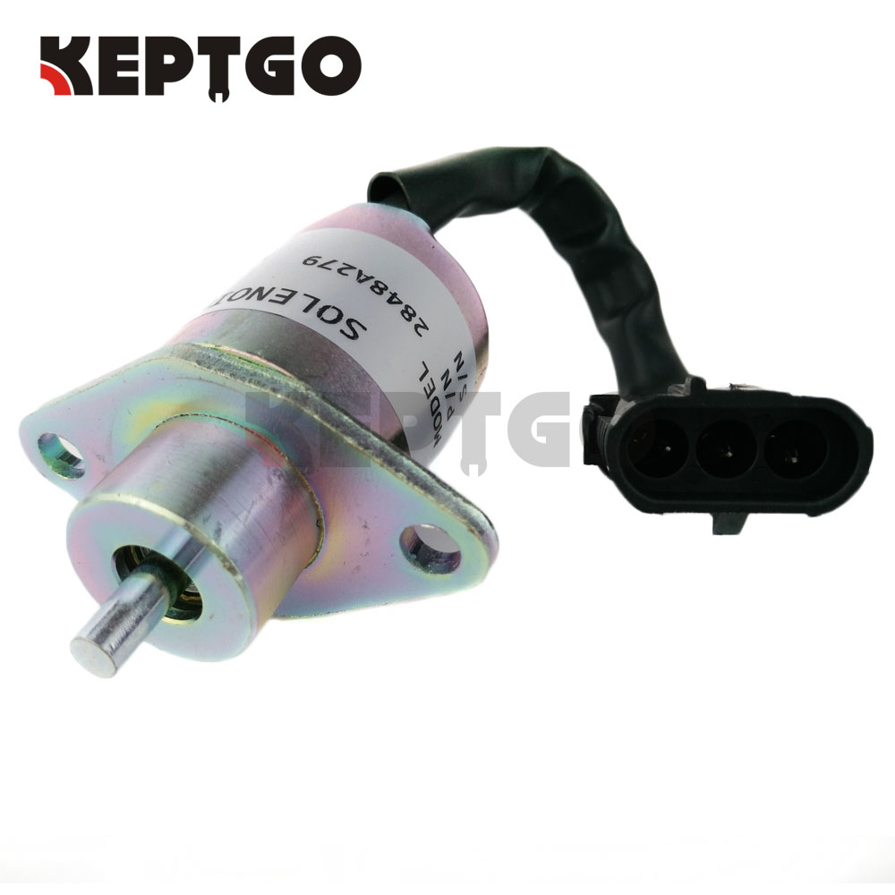 2848A279 Fuel Shutdown Stop Solenoid For Perkins 700 Series UB704 Diesel Engine SA-4934-12 2848A271 2848A275 12V jiangdong engine parts for tractor the set of fuel pump repair kit for engine jd495
