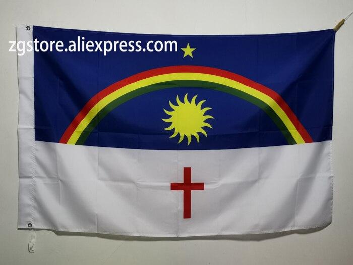 Flag of Pernambuco Brazil Brazilian State Flag 3X5FT 150X90CM Polyester Banner brass metal holes Home Decor