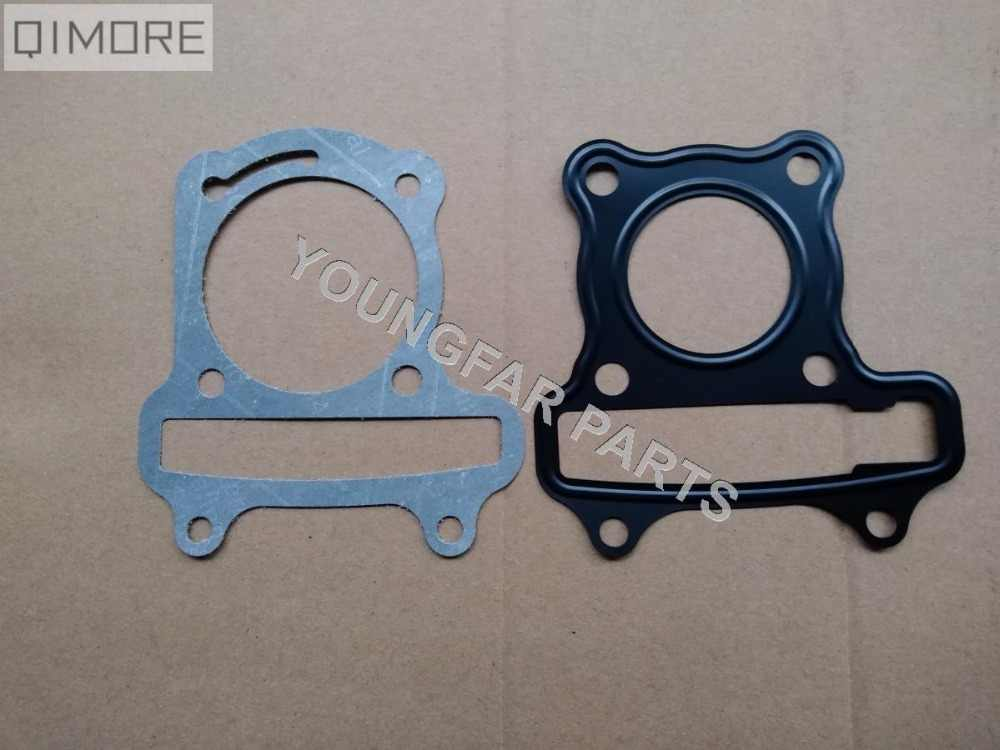 Head Gasket & Base Gasket for 4 stroke 49cc 50cc Scooter Moped ATV QUAD 139QMB GY6-50 GY6 50 (cylinder bore: 39mm)