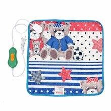 개 침대 따뜻한 애완 동물 전기 난방 패드 조정 가능한 전원 매트 잠자는 침대 작은 개를위한 고양이 개 용품