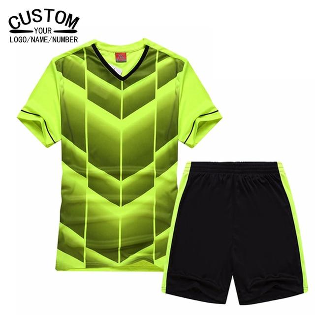 d99a9fd86b3 Custom name logo Top Thai Team men Soccer Jersey 2016 2017 Short-sleeve Football  Tracksuit Training kits Uniform Futbol Jerseys