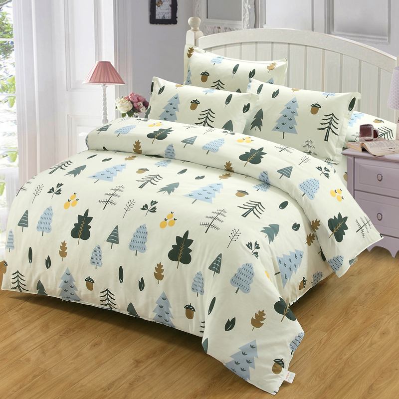 Tree plant cartoon bedding set  New style Home Textile Duvet Cover bed Sheet Pillow case for boy girl kid good qualityTree plant cartoon bedding set  New style Home Textile Duvet Cover bed Sheet Pillow case for boy girl kid good quality