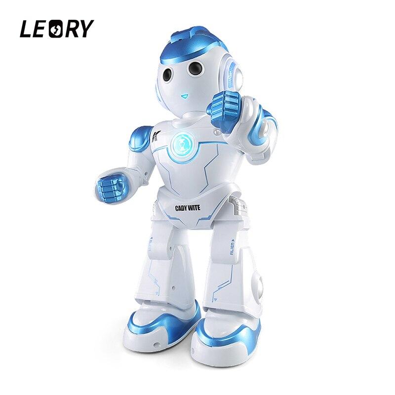LEORY RC робот милый умный программирующий пульт дистанционного управления игрушка Biped Гуманоид робот для детей подарок на день рождения подар...