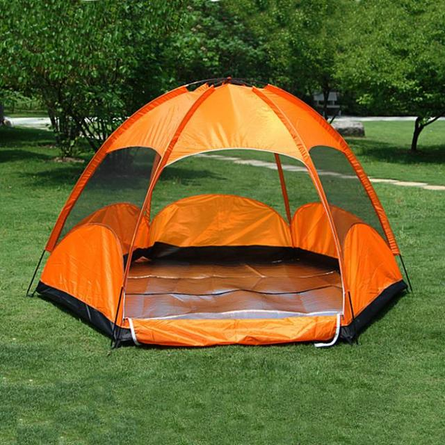 3-4 person family gazebo tents for kids outdoor c&ing equipment sexangle summer lightweight party & 3 4 person family gazebo tents for kids outdoor camping equipment ...