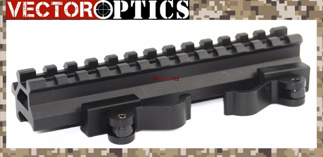 Vector Optics Long Quick Detachable Double Rail Angle Weaver Picatinny Mount with Integral QD Lever Lock 13 Slots Shockproof