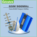 GSM Repeater Mini Gain 65dB GSM 900MHz Signal Booster Amplifier full set with Yagi antenna+indoor whip antenna+10m cables