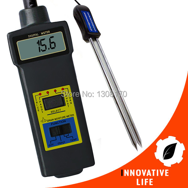 Digital Grain Temperature 8 ~ 20% Moisture Meter Tester Rice Corn Wheat Paddy