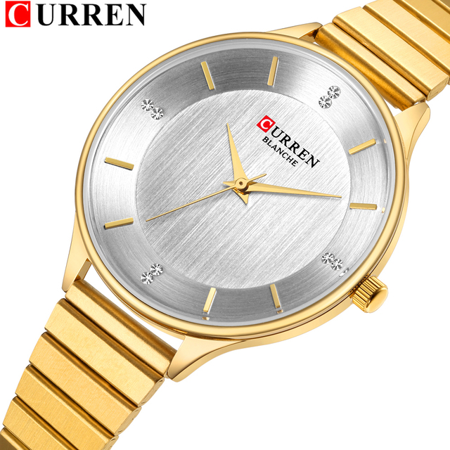 CURREN Gold Women Bracelet Watches Fashion Luxury Quartz-Watches Brand Ladies Ca