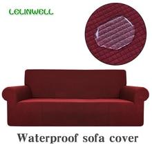 Funda de sofá a prueba de agua, funda de sofá Universal de tela Polar elástica, lavable, extraíble