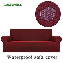 Waterdicht Sofa Cover Polar Fleece Stof Universele Sofa Cover Stretch Patroon Wasbare Verwijderbare Slaapbank Covers