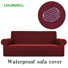 Waterproof Sofa Cover Polar Fleece Fabric Universal Sofa Cover Stretch Pattern Washable Removable Couch Covers