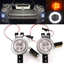 1 Pair For BMW Mini Cooper R50 R52 R53 Front Bumper Turn Signal Lamps White/Amber Left & Right