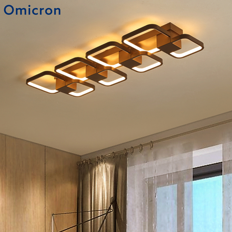 Omicron Modern LED Ceiling Lights Rectangular Minimalist Art Living Room Bedroom Brown Ceiling Light Home Decor LightingOmicron Modern LED Ceiling Lights Rectangular Minimalist Art Living Room Bedroom Brown Ceiling Light Home Decor Lighting