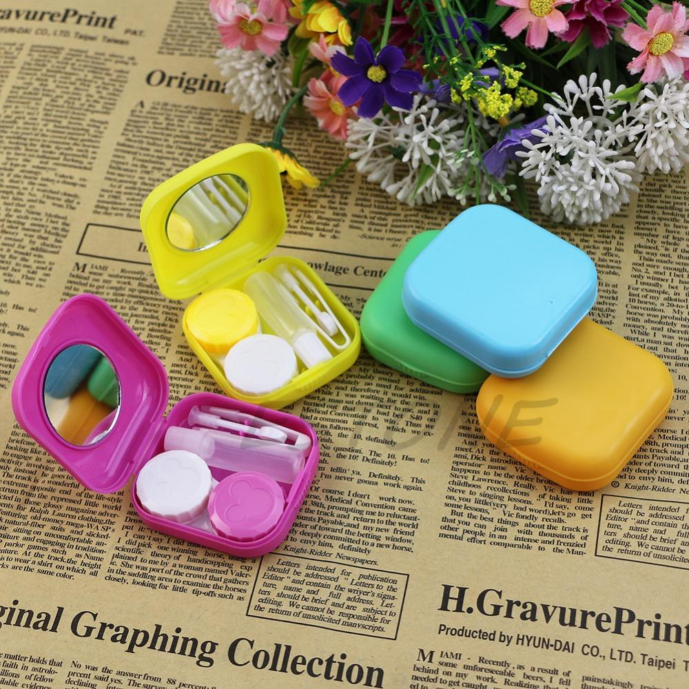 Easy Carry 1pc Travel Glasses Contact Lenses Box Contact Lens Case For Eyes Care Kit Holder Container Gift Fashoin New Eyewear Accessories