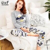 Пижама с облачным принтом
