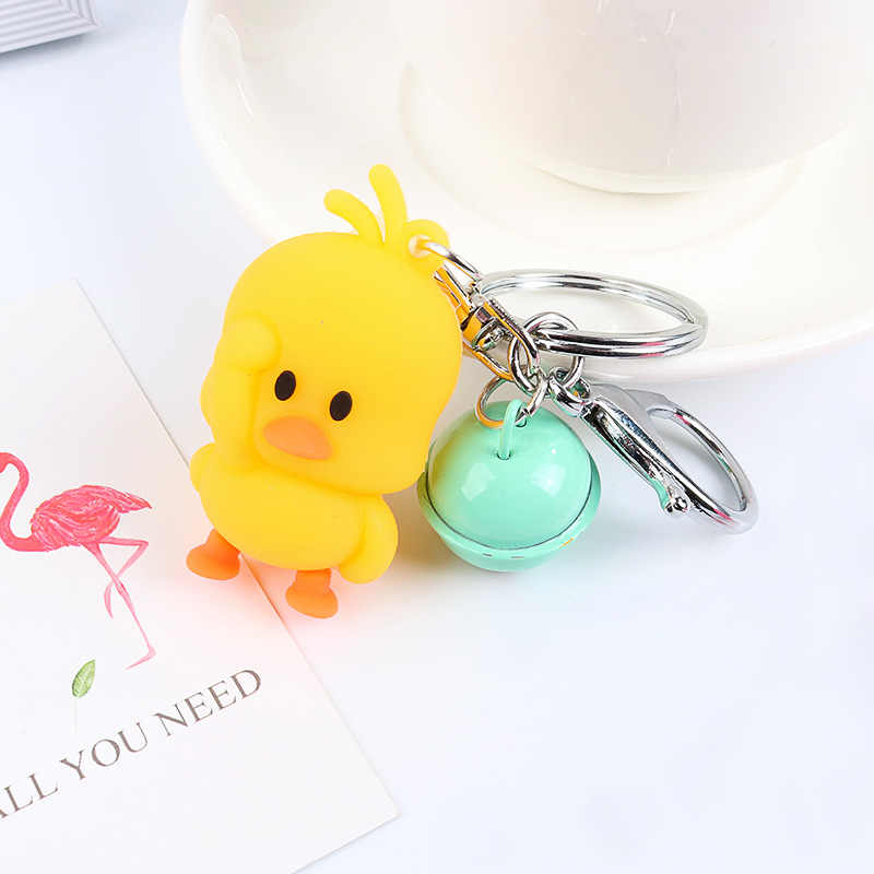LLavero de pato amarillo bonito, llavero de pato bailarín, nuevo colgante de alta calidad 2019 para mujer, regalo para niños bolsa de la escuela colgante