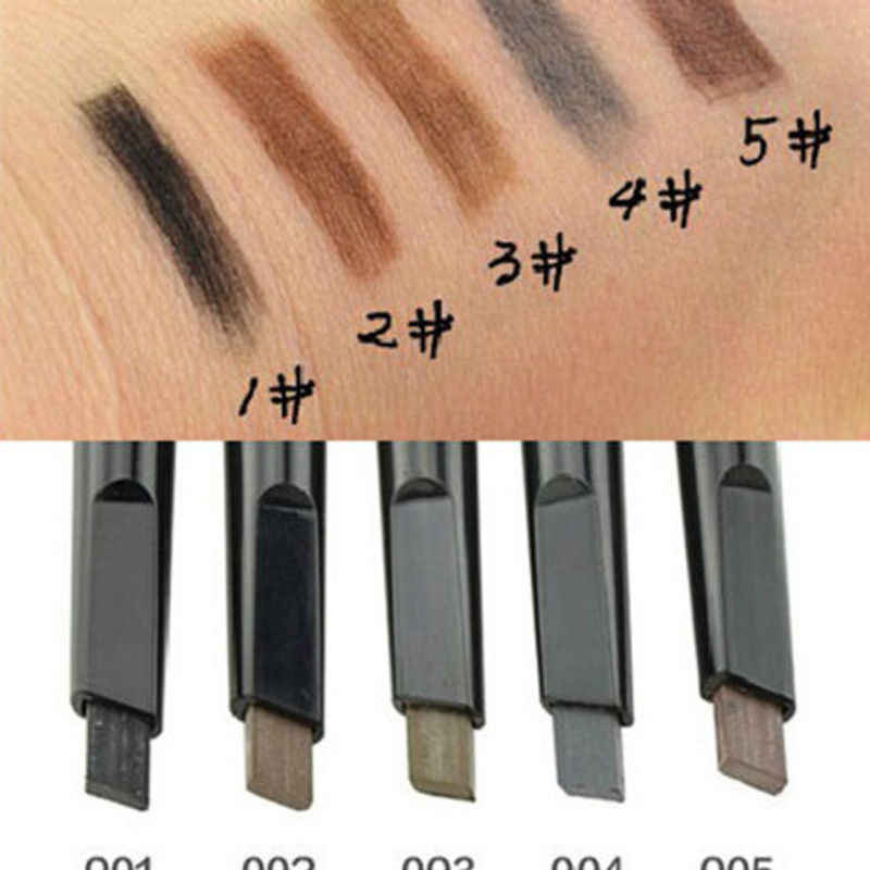 1 pc lápis de sobrancelha de maquiagem automática 5 estilo pintura para o lápis de sobrancelha cosméticos olho sobrancelha caneta delineador ferramentas de maquiagem