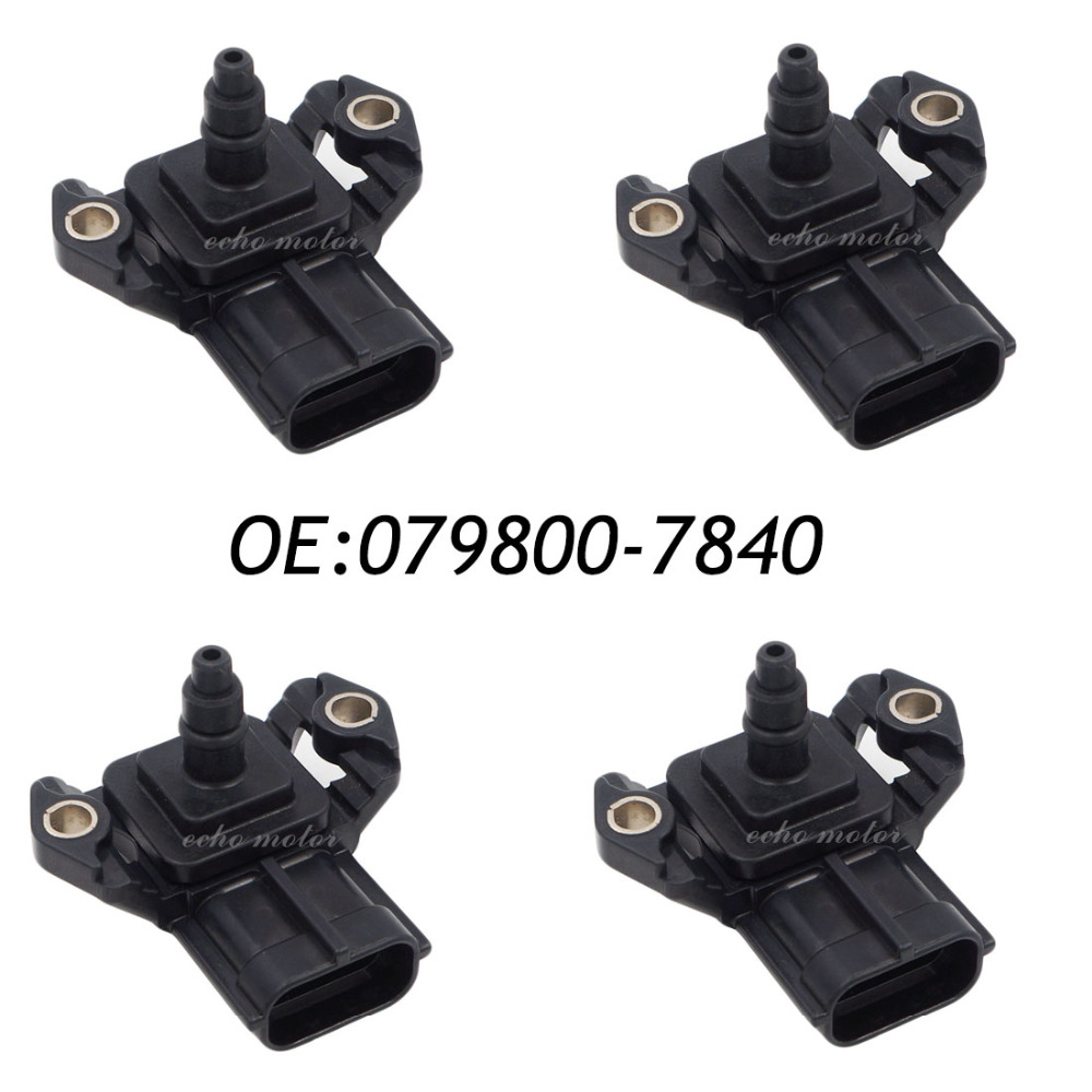 New 4pcs Air Pressure MAP Sensor 079800-7840 22627AA370 high performance new air flow meter map sensor for toyota 1jzgte jzx100 supra ls400 22250 50060 2225050060 197400 0050