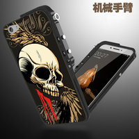 Cool Fanshion 3D Stereo Relief Painting Skeleton Skull Patterned Aluminum Metal Bumper Frame Cover For OPPO
