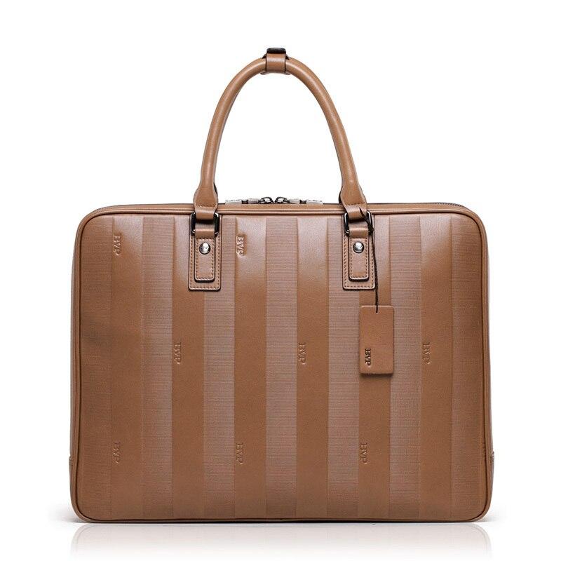 """BVP-haut de gamme mallette d'affaires hommes Top en cuir véritable Vintage ordinateur portable valise Men15 """"sacs de voyage en cuir Brifecases J30"""