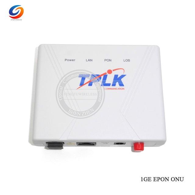 Hotsale Brand new 1G EPON 1port ONU EPON OLT 1.25G EPON ONU FTTH, English version Free shipping to Brazil by epacket