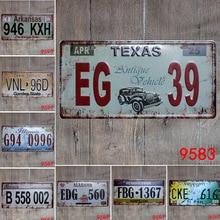 Car Number License Plate Metal Tin Signs Pub Bar Garage Home Wall Decor Vintage Metal Sign Garage Painting Sticker Poster vintage car tin signs bar pub home wall decor retro metal art poster metal plate plaques vintage retro bar sign garage rule sign