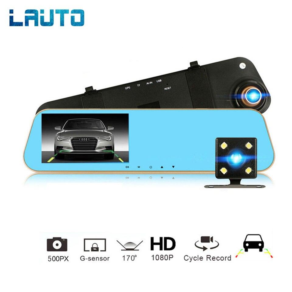 LAUTO 4 3 inch Car DVR Camera Mirror Camera Full HD 1080P Rear View Camera Night