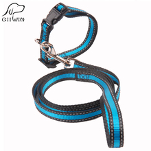 Dog Collar and Leash Set for Small Large Dogs Reflective Traction Nylon Rope Belt Harness Lead Pets Products JW0046