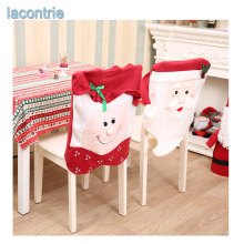 Festas Real 2017 New Stereo For Creative Santa Claus Christmas Chair Cover Sets Non Woven