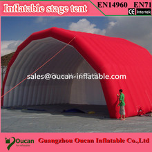 6.8X4X3.4m oxford cloth inflatable stage tent, inflatable stage cover, inflatable canopy tent for concert with free shipping