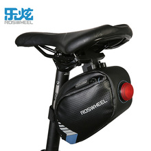 ROSWHEEL bike bag rear led light mtb cycling bag pannier accessories Black bicycle seat bag waterproof saddle bag