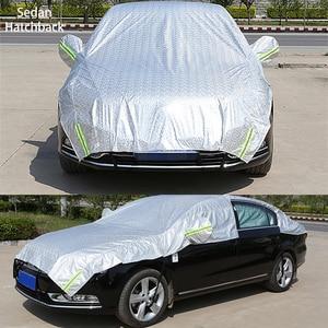 Image 2 - 하프 카 커버 창 차양 커튼 자동차 태양 그늘 커버 빛나는 마크 야외 방수 자외선 보호 자동차 액세서리