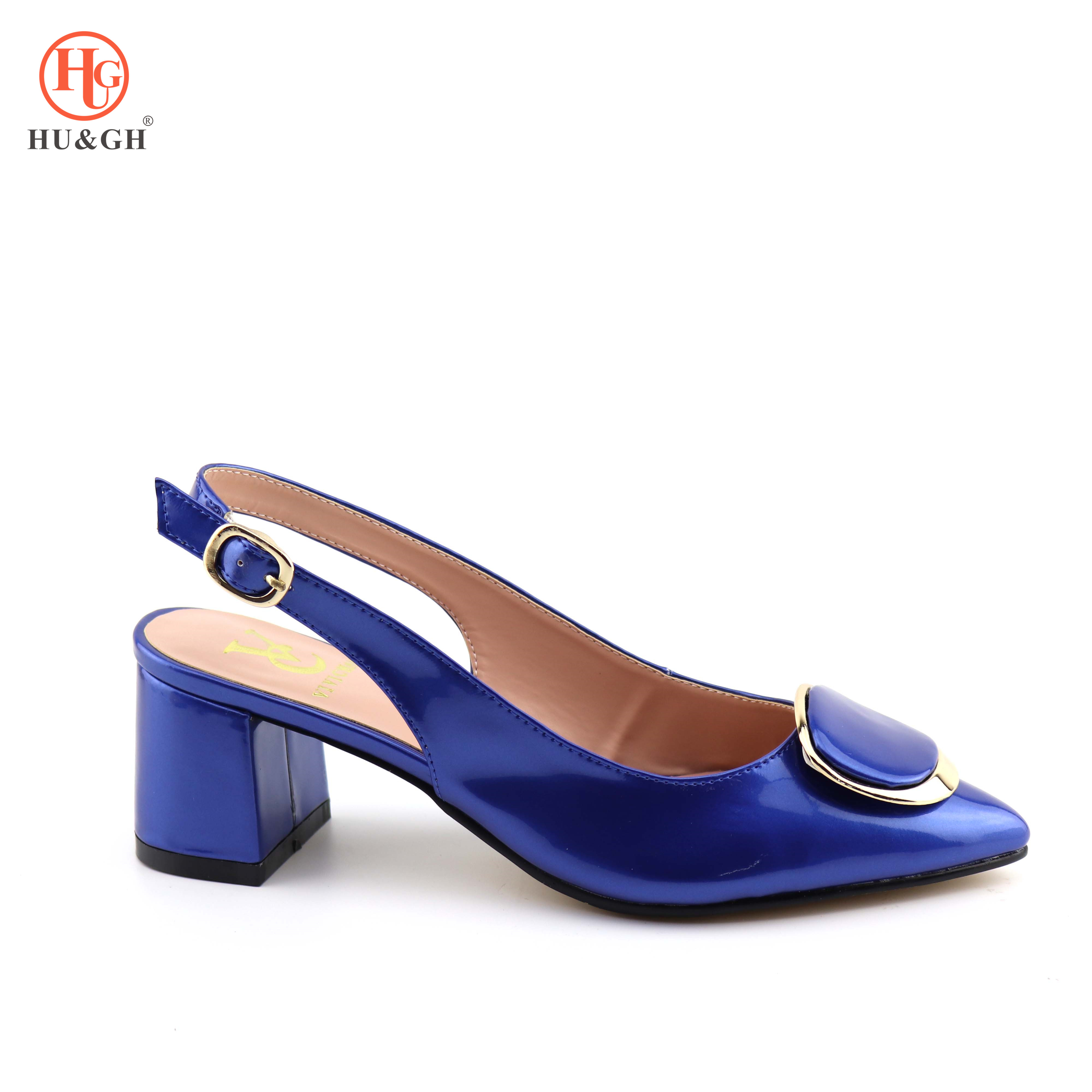 Royal Blue African Women Shoes Without Bag Matching Set Italian Shoes Nigerian Pointed Toes Sandals Shoes Good Quality Low Heels