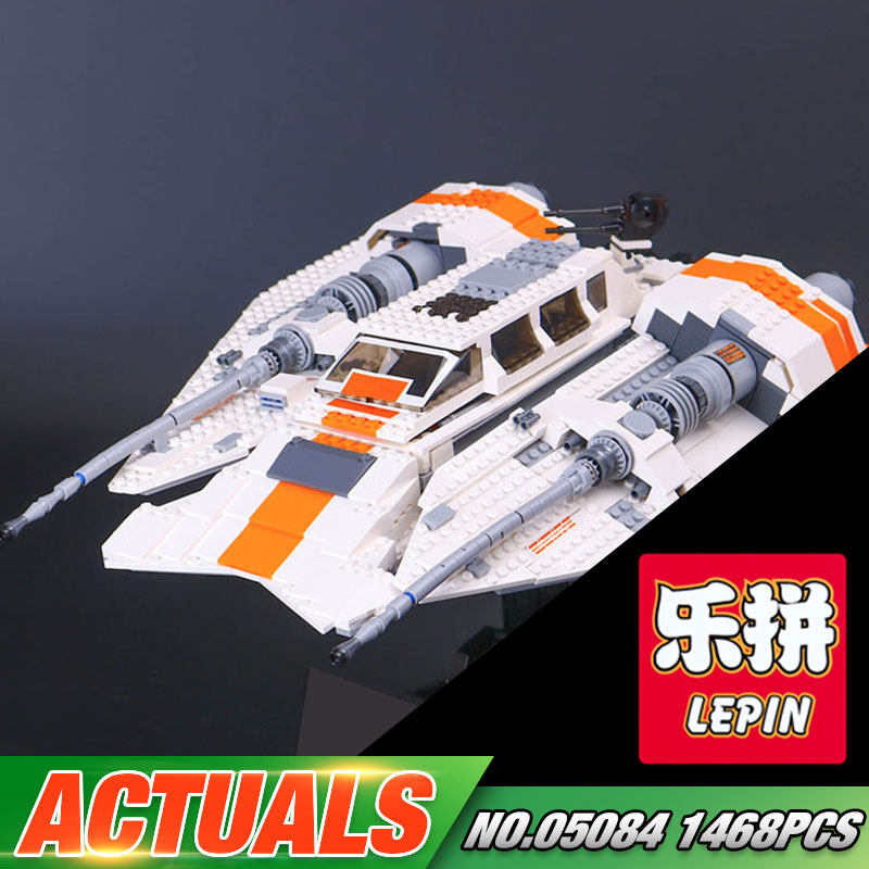 Lepin 05084 Star Series War 1457Pcs The Snowspeeder Set Children Building Blocks Bricks Toys Model Gifts 10129
