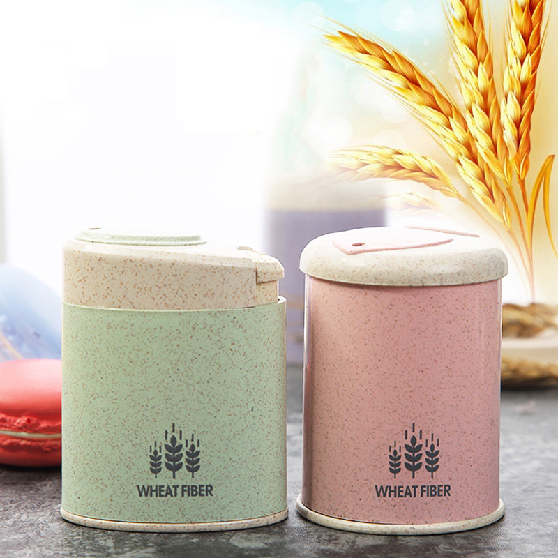 Wheat Straw Automatic Toothpick Holder Pocket Container Creative Toothpicks Box Dispenser Table Decorate Storage Box Organizer