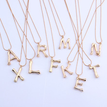 26 Letters A-Z Initial Necklace Women Gold Color Alphabet Minimalist Chain Necklaces Boho Statement Jewelry Collier Femme