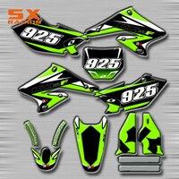 Motorcycle Decals Customize Pattern Custom Made Stickers Set For SUZUKI RMZ250 2004 2006 RM125 RM250 RMZ450 RMX250 DR DRZ S SM