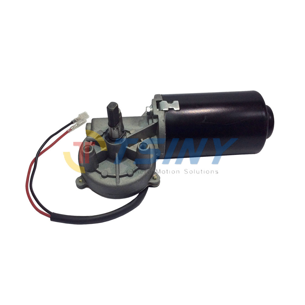 High Torque 8N.m 24V DC Reversible Electric Gear Motor 50 RPM Double Flat Shaft Left-phase Motor high torque 8n m 24v dc reversible electric gear motor 50 rpm double flat shaft left phase motor