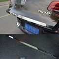 1 pcs de Aço Inoxidável do carro Protetor de Volta Tronco Porta Traseira Bagageira Trunk Tampa Traseira Tampa Guarnição Para VW Tiguan 2010-2015