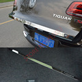 1pcs car Stainless Steel Rear Tailgate Trunk Lid Tail Gate Protector Back Trunk  Cover Trim  For VW Tiguan 2010-2015