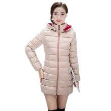 Winter Women Coat Candy Color Cotton Coat Female Removable Hooded Winter Parka Zipper Slim Coat Solid Down Coat Khaki Army Green