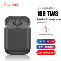 Original i88 TWS 5.0 Wireless Blutooth Earphone Mini Touch Earbuds Stereo Headset PK i80 Binaural Call Headphones Elari nanopods