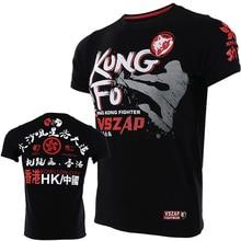 VSZAP KUNG FU fighting Hong Kong fight MMA Санда футболка с короткими рукавами фитнес Единоборства ветер тайский бокс
