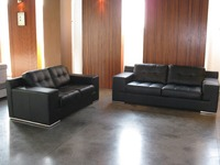 MANBAS Lussuoso grado superiore della mucca del Cuoio Genuino divano Lounge Divano In Pelle Set divano del soggiorno 2 + 3 sitter casa mobili