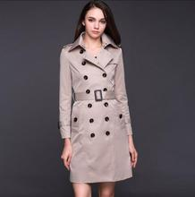 Fashion spring ladies trench coat for women double-breasted coats womens casaco feminino Medium length overcoat woman jaqueta fashion spring ladies trench coat for women double breasted coats womens casaco feminino medium length overcoat woman jaqueta